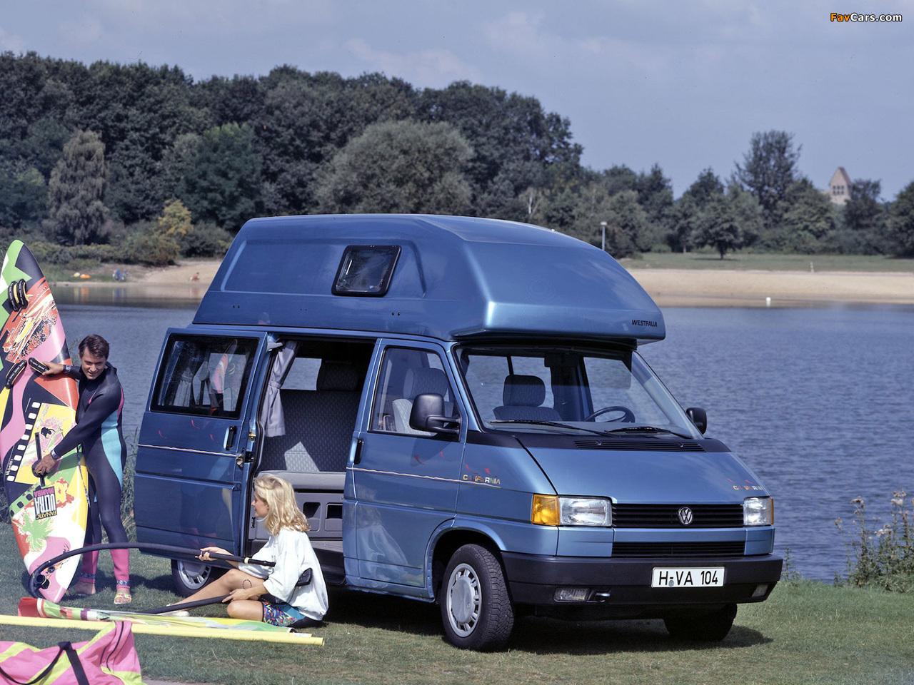 Images of Volkswagen T4 California by Westfalia 1991–96 (1280 x 960)