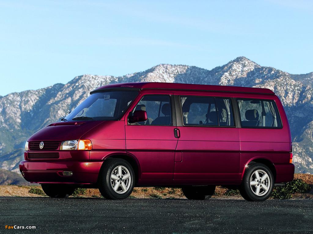 Volkswagen T4 Eurovan Camper by Westfalia 1997–2003 wallpapers (1024 x 768)
