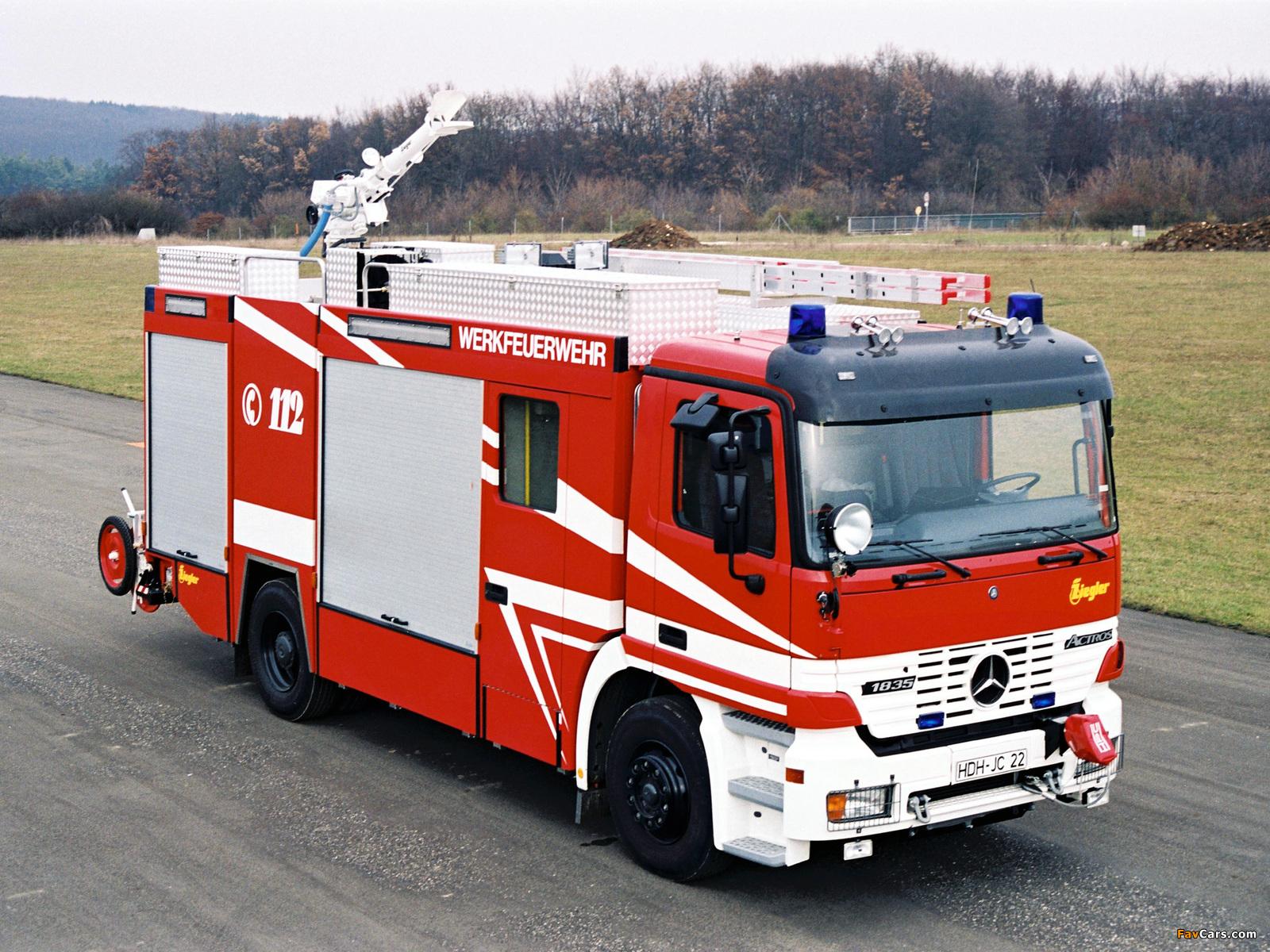 Pictures of Mercedes-Benz Actros 1835 Feuerwehr by Ziegler (MP1) 1997–2002 (1600 x 1200)