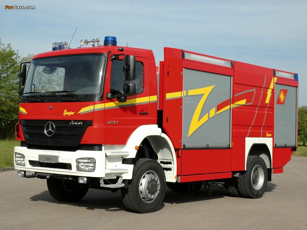 Pictures of Mercedes-Benz Axor 1833 Feuerwehr by Ziegler 2005–10 (1024 x 768)